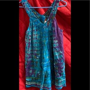 Small Greater Good Tie Dye Blouse Shirt Top